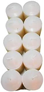 Enlightened Ambience Damask Rose with Oud Wood Scented White Votive Candles 10 Pack