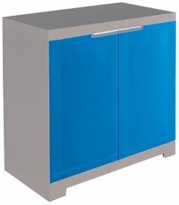 Nilkamal Freedom Mini Small Plastic Multipurpose Wardrobe - Deep Blue and Grey