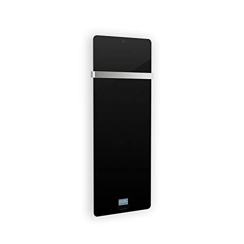 KLARSTEIN Hot Spot Crystal IR - Panel Calefactor por Infrarrojos, Display LED, Temporizador semanal, Tecnología IR Comfort Heat, Soporte toallero de Acero Inoxidable, Protección IP24, Antracita