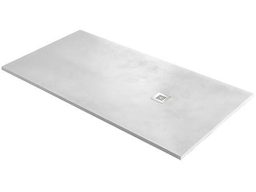 Plato de ducha ultrafino modelo base Beton 80 x 100 (blanco)