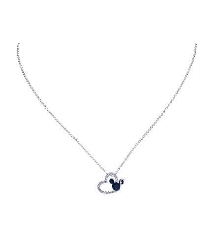 SIX Disney Halskette aus 925er Silber mit funkelndem Herzanhänger (386-377)
