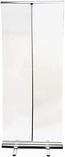 ZYLHC Oficina aislada Banner Roll-up PVC Transparente Roll Up Equipo Piso Stareez Freeze Guard, con Roll Up Stoop Soporte de pie, Clear Film Protective Shield para cafés, Tiendas minoristas