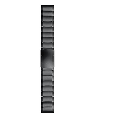ZZDH Correas Relojes Correa de Acero Inoxidable de Metal, Adecuada para Relojes Inteligentes con Ancho de 20 mm y Accesorios de Pulsera de 22 mm Adecuado para Hombres y Mujeres
