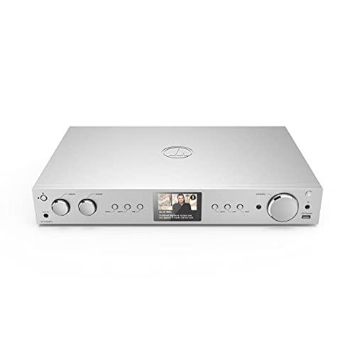 Hama HiFi-Tuner DIT2105SBTX Internet Radio, DAB/DAB+, Bluetooth (Tuner HiFi mit Internetradio, Digitalradio/FM, WLAN, Stereo Receiver Spotify/Amazon Music, Fernbedienung, USB/AUX, Wecker) Silber
