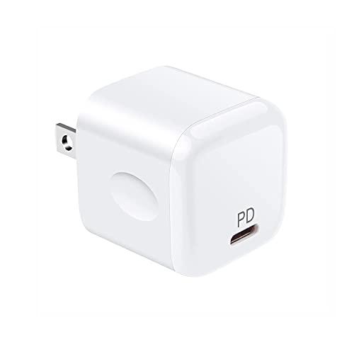 iPhone充電器 タイプc アダプター コンセント【PSE認証済/20W超小型/急速充電】USB Type-C充電器 USB-C電源アダプター PD充電器 iPhone 12/12Pro/12Pro Max/MiNi/iPhone 11/11Pro/11Pro Max/XR/8 、iPad Air(第4世代)、Galaxy S20/S20+、MacBook、Android その他USB-C機器対応(ホワイト)