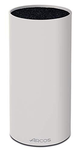 Arcos Tacos, Bloque Universal para Cuchillos hasta 20 cm, Hecho de Caucho Termoplástico de 225 mm, Color Blanco