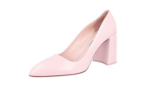 Prada Damen Pink gebürstetes Spazzolato-Leder Leder Pumps 1I234G ULR F0615 40 EU