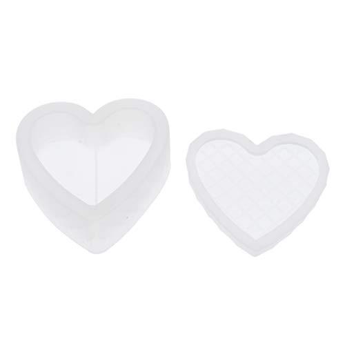 kowaku Amor Molde de Resina Joyas Caja de Maquillaje Cuentas Botones Píldora Organizador Fabricación