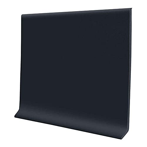 Proflex Black Vinyl Wall Base 4 inch X 20 ft - Wall Base Trim with Super Strong Peel and Stick Adhesive Back - Flexible Self Stick Vinyl Wall Base - Easy Install Vinyl Floor Base with Toe
