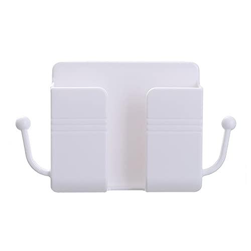 Organizador de Carga de teléfono móvil montado en la Pared Control Remoto Caja de Almacenamiento Soporte de Enchufe de teléfono Soporte Estante de Almacenamiento de Pared Estante de Almacenamiento
