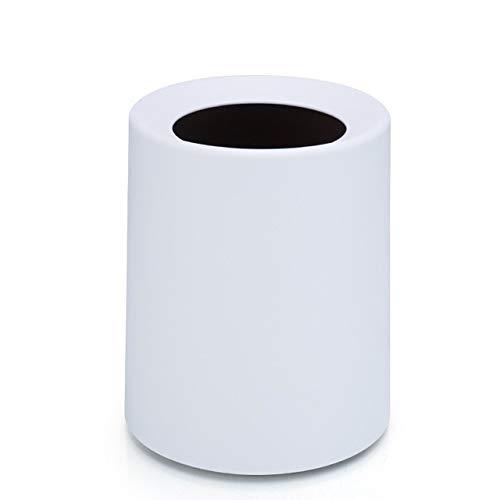 Xcwsmdq Mülleimer Nordic Plastic Matte Trash Can 8L / 12L Abfall-Staub-Lagerbehälter Eimer Papier Home Office Abfalleimer ohne Deckel Mülleimer Reinigungsmittel (Capacity : 8L, Color : White)