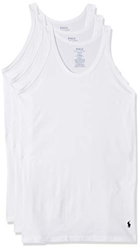 Polo Ralph Lauren Slim Fit w/Wicking 3-Pack Tank White MD