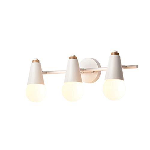 YLCJ Moderne minimalistische en moderne wandlamp voor spiegelkast met spiegel en LED-lampen voor badkamer (kleur: E)