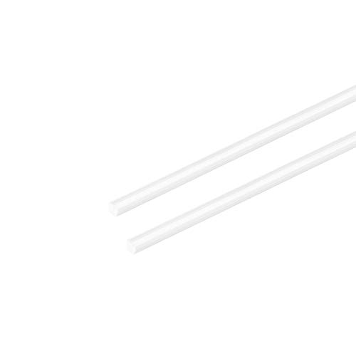 sourcing map 2 Stk. Vierkantstange Stab f Architekturmodellbau DIY ABS Kunststoff 3mm×3mm×20