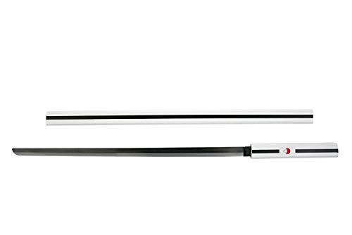 VIKING GEAR Sasuke Uchiha Anime Schwert Naruto Anime Katana Metall Holz - Cosplay Kostüm schwarz weiß