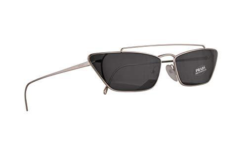 Prada PR64US Sonnenbrillen Silber Mit Graunem Gläsern 67mm 1BC5S0 PR 64US SPR 64U SPR64U