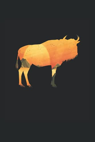 Wildebeest -Buffalo: Din A6 Buffalo notebook Artland gift with 120 pages