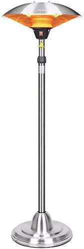 FANPING Calentador de Patio, calentador eléctrico al aire libre separado de la pared radiante de infrarrojos calentador de altura ajustable restaurante 3 Ajustes de calor 1200W / 1800W / 3000W protecc
