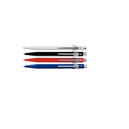 Caran d'Ache 849.260 - Bolígrafo retráctil (metal, 14 cm), color rojo, azul, negro o blanco