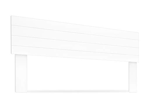 LA WEB DEL COLCHON - Cabecero de Madera Rústico Vintage para Cama de 180 (190 x 90 cms.) Blanco nórdico | Cabeceros Madera | Dormitorio Matrimonio | Cabezal Cama |Estilo nórdico