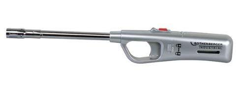 ROTHENBERGER Indutrial sturmsicheres Feuerzeug, Füllanzeige, Piezo, wiederbefüllbar, Kindersicherung 035991E