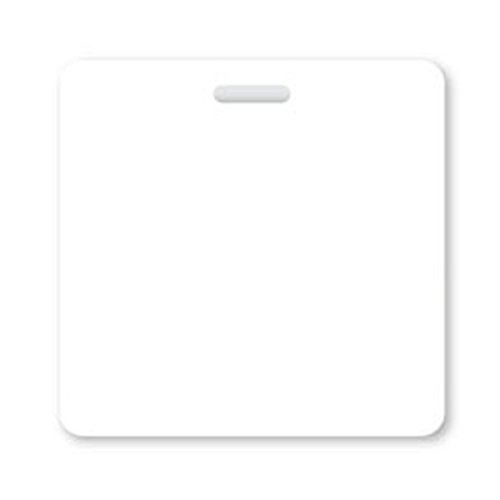 Blank White Badge Buddy - Heavy Duty Horizontal Badge Buddies to Customize - - Spill & Tear Proof Cards - 2 Sided USA Printed Quick Role Identifier ID Tag Backer by Specialist ID