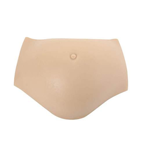 XUNMAIFLB Gefälschter Schwangerschaftsbauch, Falscher Silikonbauch, Cosplay-Requisiten, Weicher Gefälschter Schwangerer Bauch, Künstlicher Schwangerschaftsstoß, 5-10 Monate, Asianyellow, XL