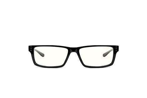 Gunnar Gaming- und Computerbrille | Riot, Onyx Rahmen, Clear Linse | Blue Light Blocking Glasses | Patented lens, 35% Blaulicht- & 100% UV-Lichtschutz zur Verringerung der Augenbelastung