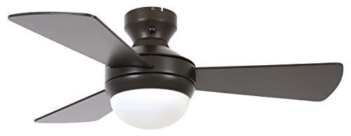 Lucci air - Ventilador de techo Airlie Hugger con mando a distancia, alas reversibles y 2 opciones de instalación (bronce)
