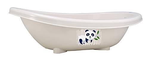 Rotho Babydesign Bio-Badewanne Panda, 100% Biologisch Abbaubar, 80 x 47 x 25 cm, Organic white