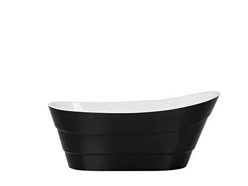 Wunderschöne, ovale, freistehende Badewanne in Schwarz Buenavista