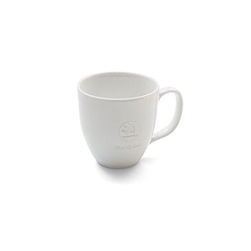 Skoda Original Jumbo Tasse Porzellan Becher Kaffeetasse, sandgestrahltes Logo