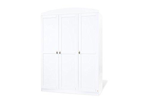 Pinolino guardaroba Laura grande, schöner, 3-ante armadio, bianco, dimensioni 135 x 54 x 191 cm (tipo. - N, 14 00 25 G)