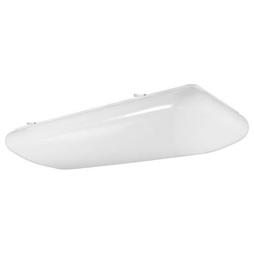 Luxrite 2FT Puff LED Flush Mount Light Fixture, 5000K Bright White, 3500 Lumens, 110-277V, 34W Surface Mount LED Cloud Ceiling Light, Energy Star & ETL Listed, Damp Location