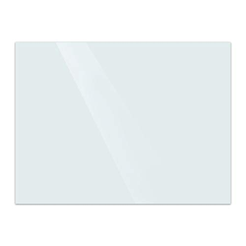 『LOWYA ロウヤ ホワイトボード ガラスボード 強化ガラス 壁面 110×80cm 通常タイプ ホワイト』の1枚目の画像