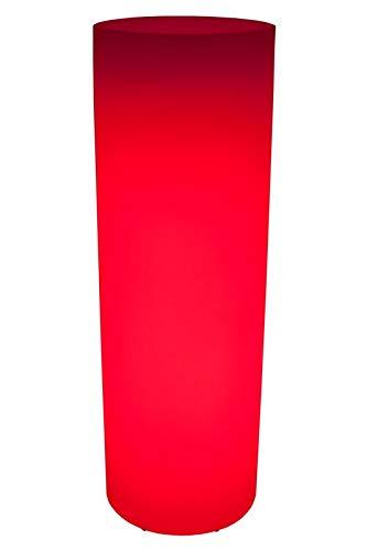 Luminatos Pillar 115, led-zuil bloempot 115 cm met afstandsbediening verlicht 16 kleuren