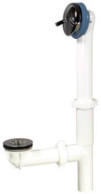 Plumb Pak 64W bianco in plastica e cromo lucido bagno Drain Triplever