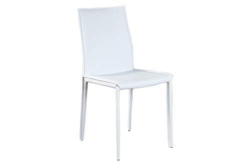 DuNord Design Stuhl Verona Weiss Leder