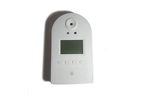 Termómetro infrarrojo de Pared sin contacto Gran precisión Fácil instalación Medición automática Amplia pantalla LCD Medición en Celsius/Fahrenheit con sistema de alerta/alarma automático