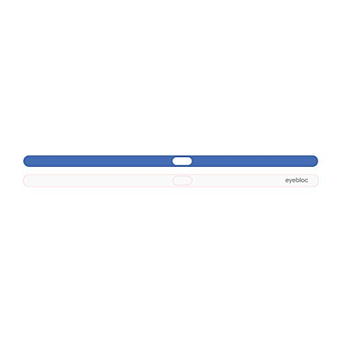 Eyebloc Webcam Cover for MacBook & MacBook Pro – Safe Screen Closure, Patented Magnetic Slider Design for Award-Winning and Stylish Protection (1 Pack) - Blue White