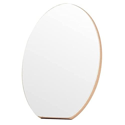 LYQQQQ Espejo de Maquillaje de Escritorio de Madera/Espejo de tocador, Espejo portátil de Escritorio Plegable, 2 tamaños (Size : 15 * 21cm)