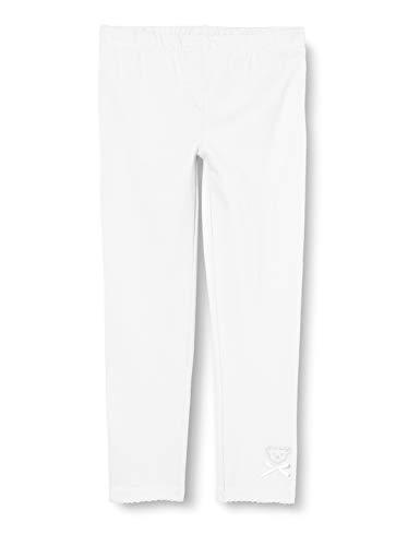 Steiff Mädchen Leggings, Weiß (Bright White 1000), (Herstellergröße: 110)