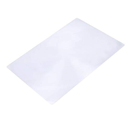 Surobayuusaku Portale Size 3X Magnification Magnifier XL Full Page Magnifying Sheet Fresnel Lens For Reading Newspaper Document