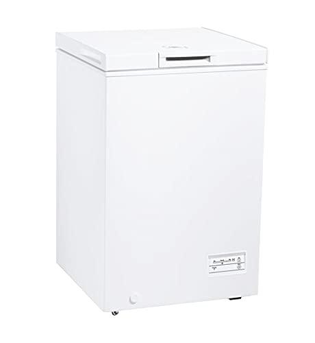 Candy CCHM 100/N, Congelador arcón pequeño, 98l, Control mecánico, Condensador oculto, Cesto, Rasqueta, Super congelación, 40dba, Clase F, Blanco