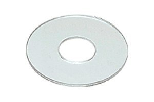 "CRL 3/4"" Clear Vinyl Replacement Washer for 3/4"" Standoff Cap Assemblies - 10 Pack"