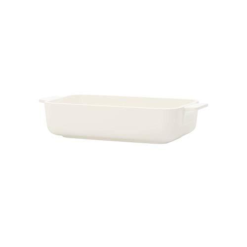 Villeroy & Boch Clever Cooking Plat à four rectangulaire, 24 x 14 cm, Porcelaine Premium, Blanc