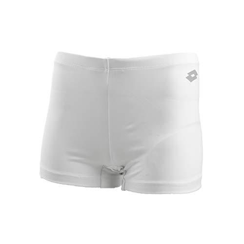 Lotto Squadra TH PL - Pantalón Corto para Mujer, Color Blanco, Gris Oscuro, XL