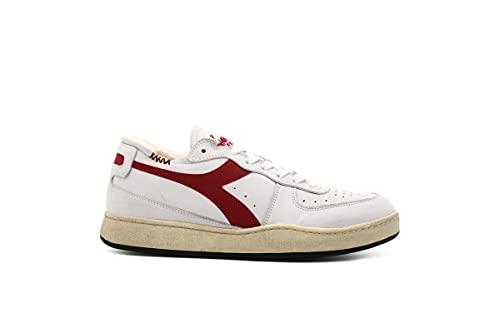 Diadora Heritage Mi Basket Row 176282 c7114 Bianco Rosso (Numeric_42_Point_5)