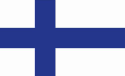 Kiwistar Autoaufkleber Sticker Fahne Flagge Aufkleber 10cm Finnland laminiert sehr Lange Haltbar