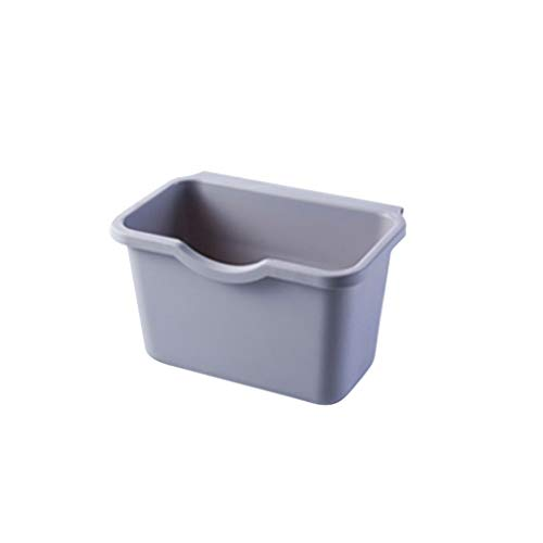 xuejuanshop Kitchen Trash Can Kitchen Cabinet Plastic Trash Can Hanging Storage Bucket Anti-fall Trash Can Trash Can (Color : Gray)